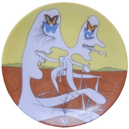 Salvador Dali (1904 - 1989), d'après «La conquête du cosmos» Suite de 6 assiettes [...]