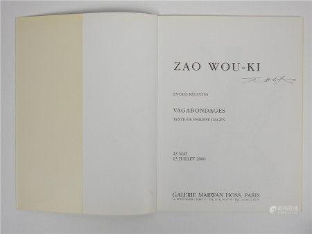 """Zao Wou Ki (1920-2013)  - Catalogue de l'exposition """"Vagabondages"""" réalisée par la [...]"""