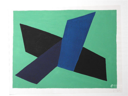 """André Copin (1911-1998) """"Proposition"""", 1945 Gouache sur papier signé et daté en [...]"""