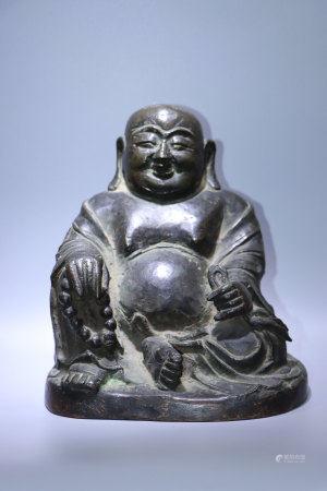 明.銅彌勒佛像