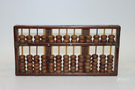 民國老黃花梨木算盤