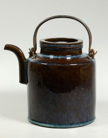 Chinese Junyao Glazed Yixing Large Teapot