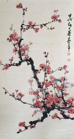 近代 董寿平  红梅