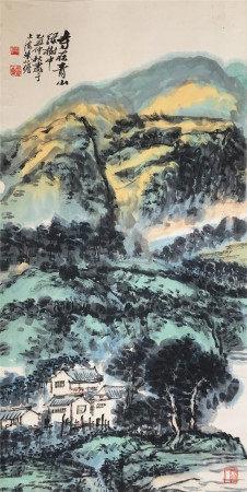 近代 朱屹瞻  寺在山中