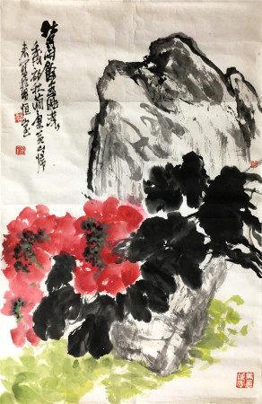 近代 曹简楼  花卉