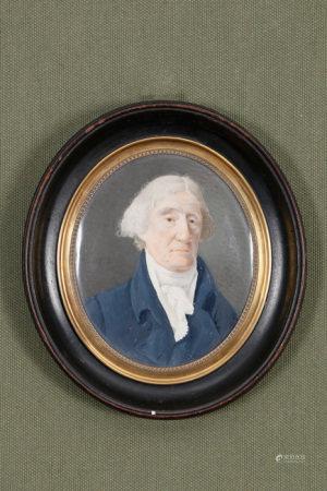 Jean-Jacques Rigaud (XVIIIe-XIXe siècle)  - Portrait de gentilhomme 1806 Miniature [...]