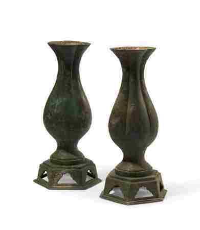 11-12 世纪 铜瓶一对