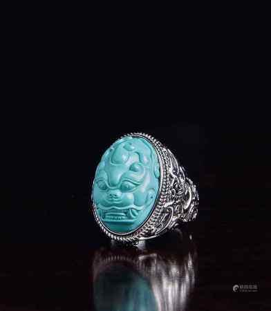 原矿绿松石戒指