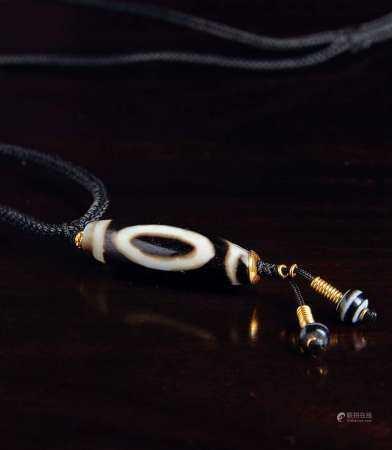 千年至纯佛两眼天珠项链