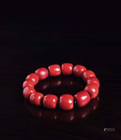 牛血红珊瑚手钏