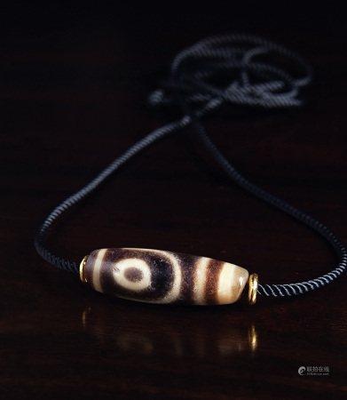 千年至纯如意两眼天珠项链