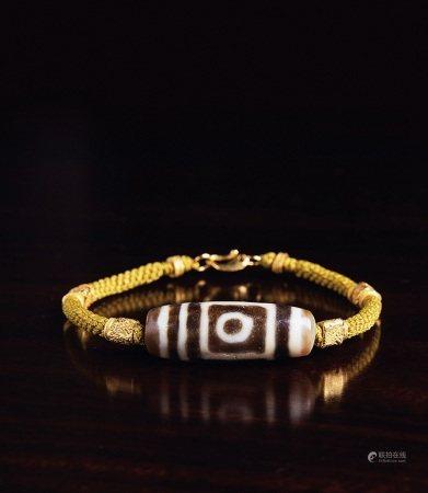 千年至纯双线地门两眼天珠手环