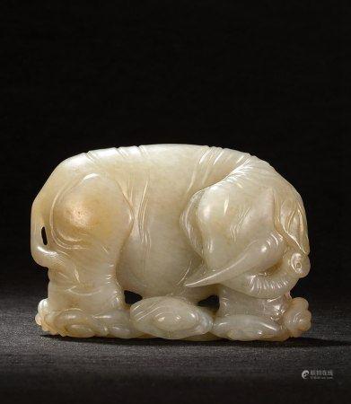 清 白玉太平有象