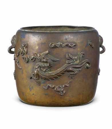 清代 龙纹筒式炉