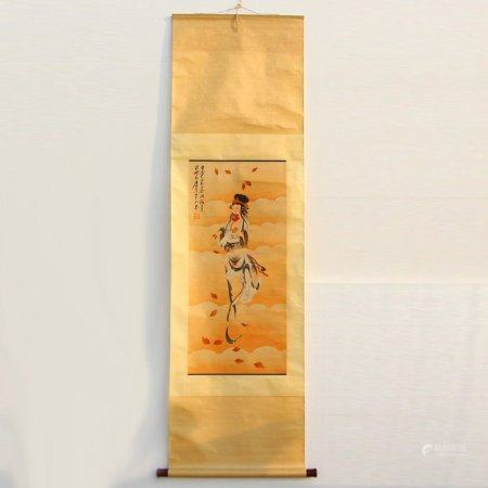 Watercolour On Xuan Paper Buddhism Figure Painting