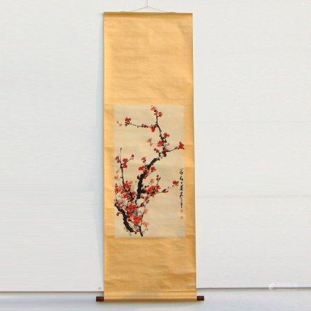 Watercolour on Xuan Paper Plum Flower Painting