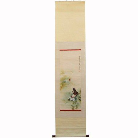 Chinese Watercolor on Xuan Paper Painting - Goldfish