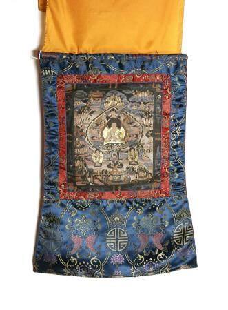 Chinese Thangka, Depicting Shakyamuni Buddha