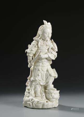 Chinese White Glazed Figure of a General