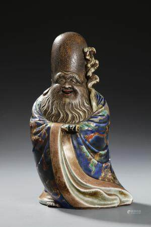 Chinese Famille Rose Figure of Shoulao