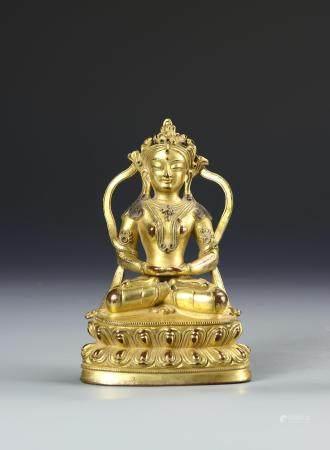 Chinese Gilt-Bronze Buddhist Figure