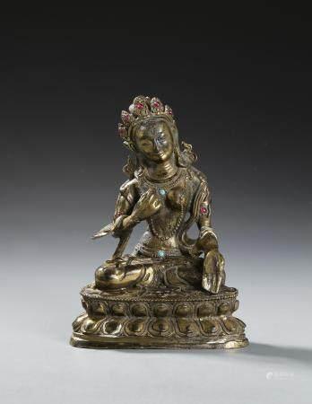 Chinese Bronze Buddhist Figure of Green Tara