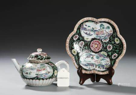 Christie's, Yongzheng Famille Noire Teapot w/Stand