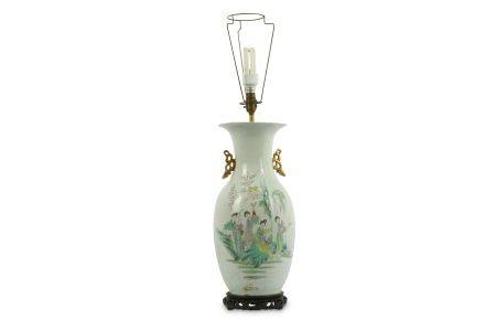 A Chinese Famille Rose vase, 20th Century,
