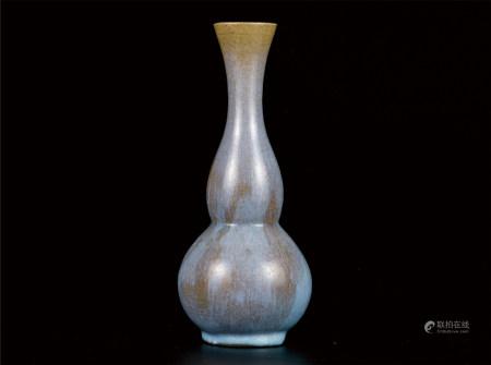 钧窑葫芦瓶  购于国内知名拍卖公司