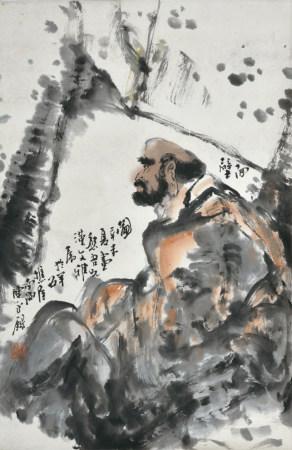 陈永锵款  人物  立轴