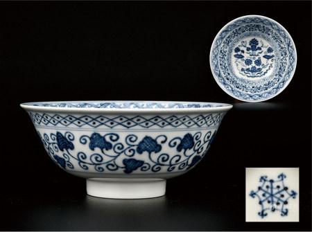 青花缠枝莲纹碗