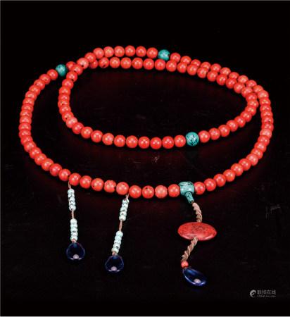 珊瑚红朝珠