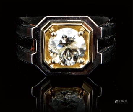 18K铂金镶钻石戒指  2.01CT