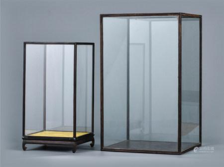 玻璃罩  一组2件