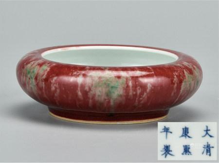 豇豆红釉洗