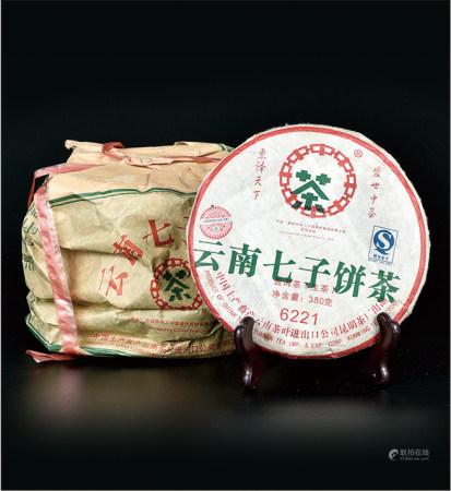 2007年  中茶绿印6221普洱生茶