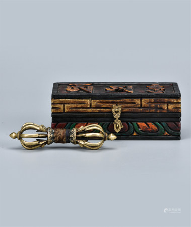 铜金刚杵  配原装漆盒