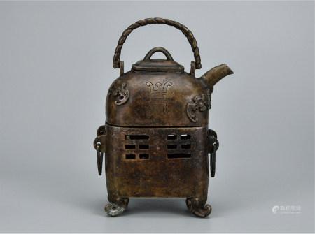 铜温酒壶连炉