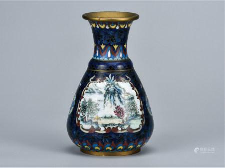 铜胎景泰蓝瓶
