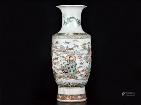 五彩浮雕群仙贺寿大瓶