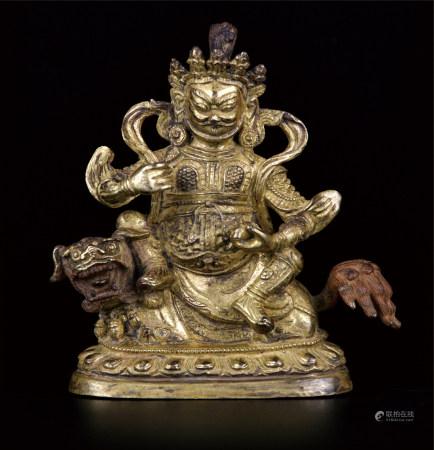 铜鎏金财神 上海资深藏家提供