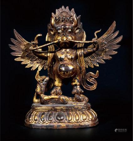 铜鎏金大力神 武汉资深藏家提供