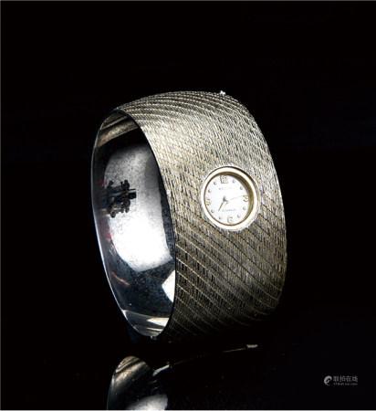60-70年代  瑞士原装17钻镀金手镯表(上链 可运行)