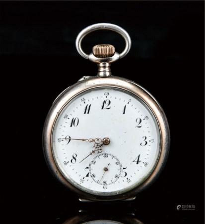 瑞士纯银19钻三针纪念怀表