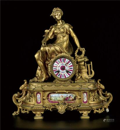 铜珐琅彩座钟