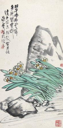 曹简楼 水仙1973年作