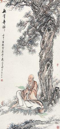 袁培基 佛像无量寿佛1942年作