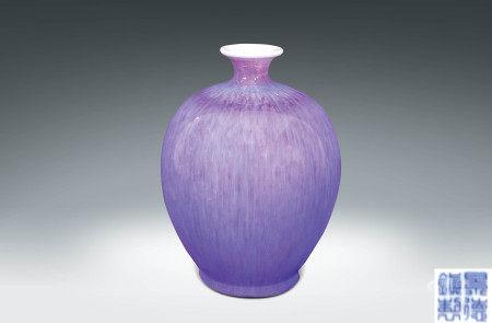70年代  窯變釉瓷瓶 (景德鎮製)
