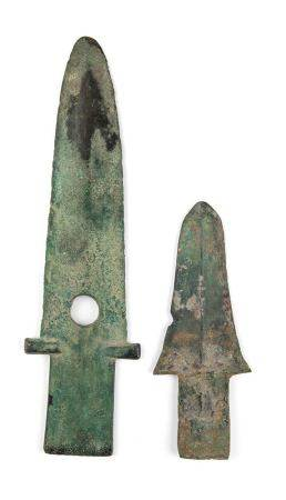 TWO BRONZE BLADES, GE China, late Shang – early