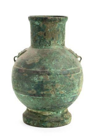 A RITUAL BRONZE WINE VASE, HUChina, Han dynasty